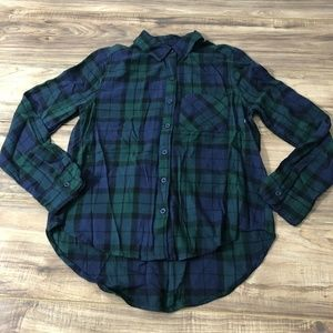Abound Plaid Button Down Shirt XXS